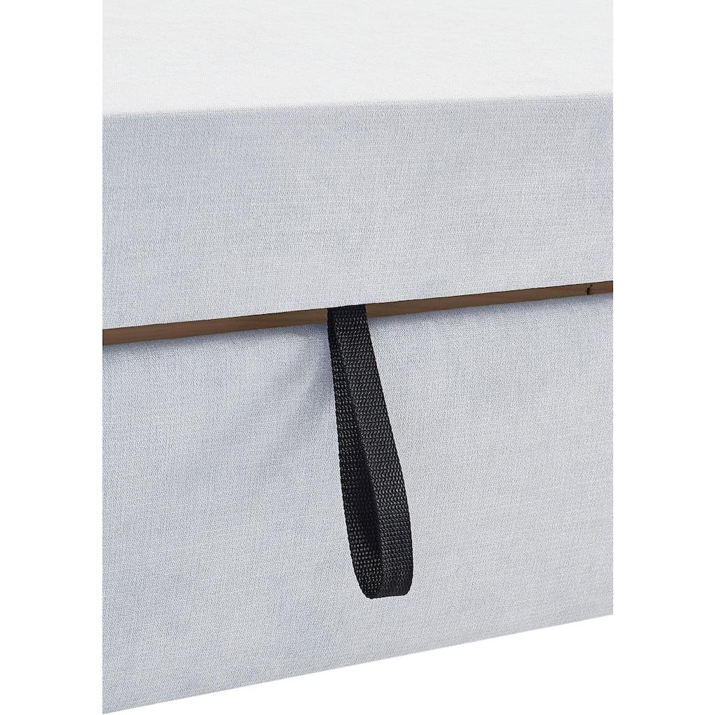 DOMO collection Wohnlandschaft »Franzi Top«, wahlweise mit Bettfunktion, Bettkasten und Kopfteilverstellung, Recamiere links oder rechts bestellbar, frei im Raum stellbar