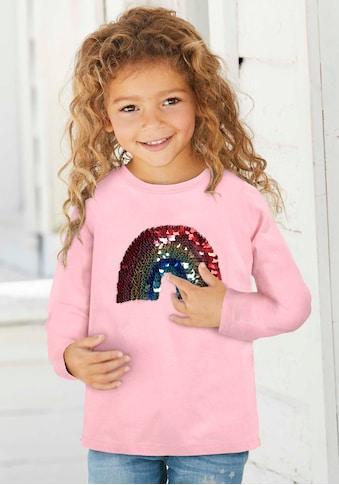 KIDSWORLD Paillettenshirt »Regenbogen«, Paillettenapplikation kaufen