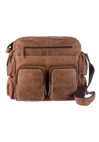 GreenLand Nature Messenger Bag »Montenegro«, aus echtem Leder mit praktischen Vortaschen kaufen