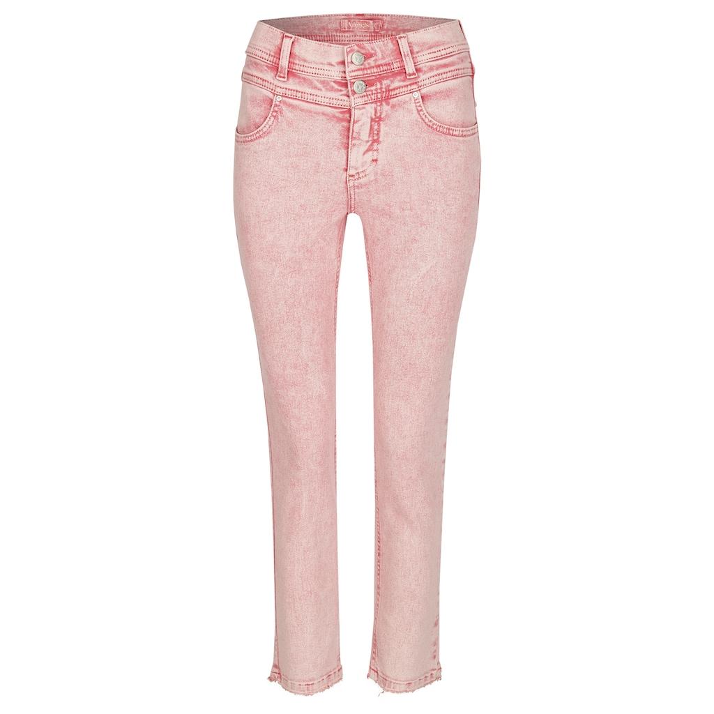 ANGELS Slim-fit-Jeans, 'Ornella Button Moon' aus weichem Denim