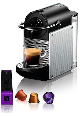 Nespresso Kapselmaschine De'Longhi Pixie EN 124.S, nur 11 cm breit mit Seitenteilen aus recycelten Nespressokapseln kaufen