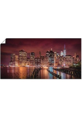 Artland Wandbild »New York City Impression bei Nacht«, Amerika, (1 St.), in vielen... kaufen