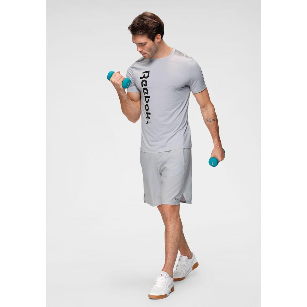 Reebok Trainingsshirt »WOR AC GRAPHIC SS Q«, Rücken komplett aus Mesh