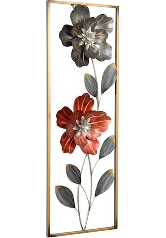 HOFMANN LIVING AND MORE Wanddekoobjekt, Wanddekoration aus Metall, Motiv Blumen kaufen