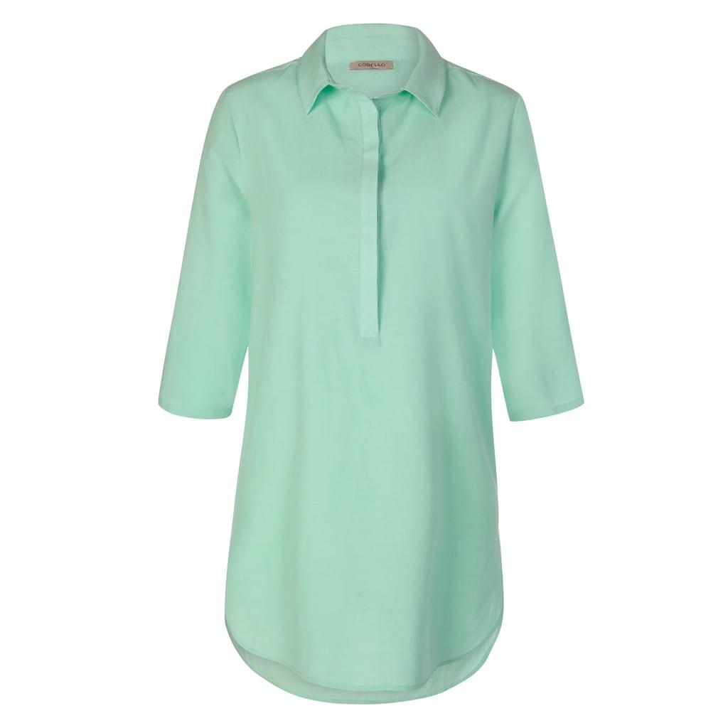 Codello Blusenhemd in lässiger Longform mit Seide & Leinen