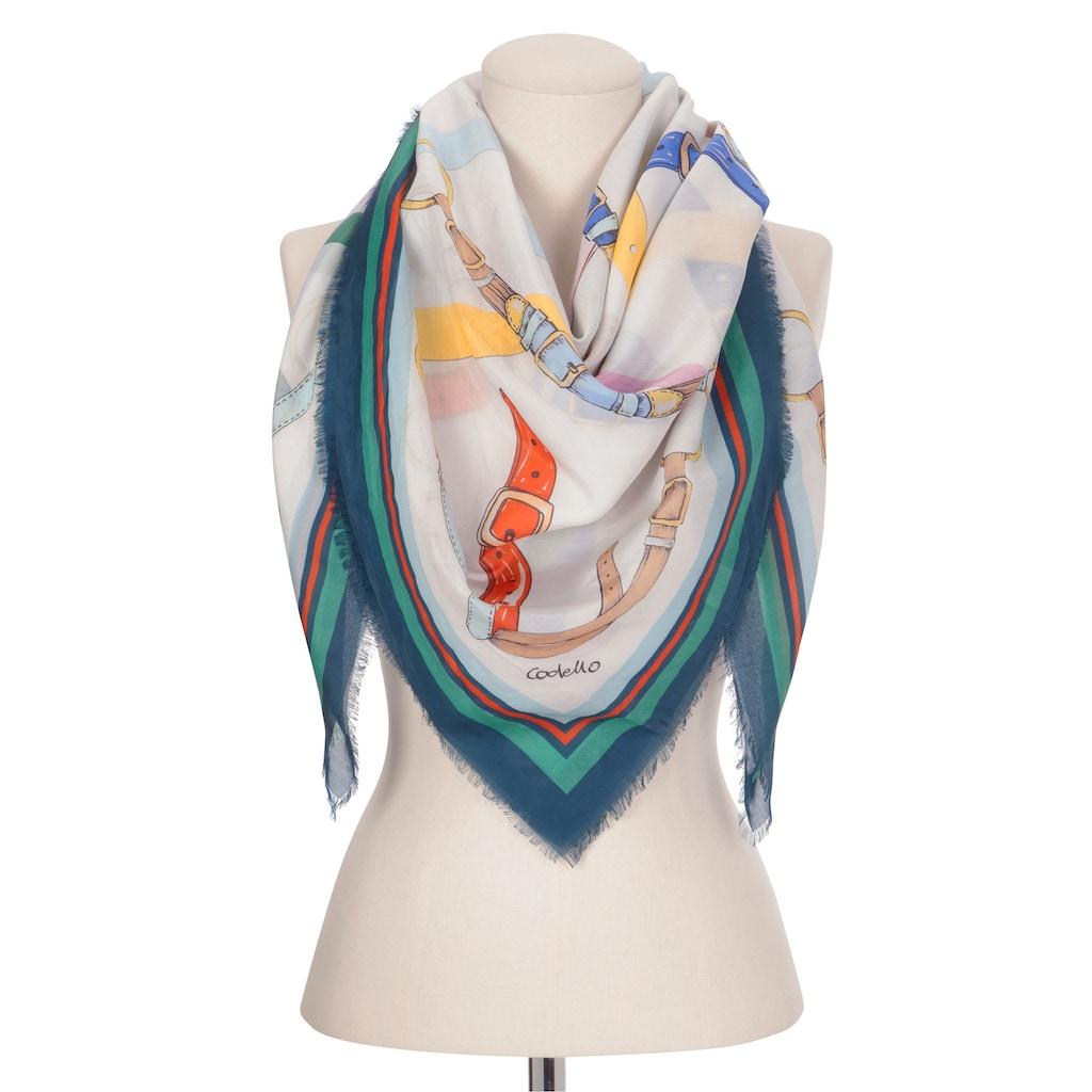 Codello XL-Tuch aus Baumwolle mit Seide