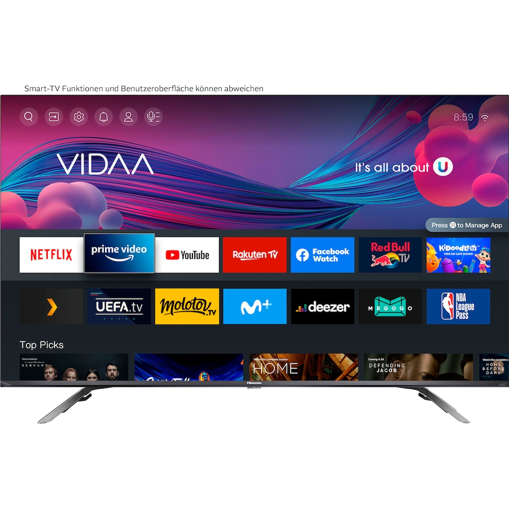 """Hisense QLED-Fernseher »50E76GQ«, 126 cm/50 """", 4K Ultra HD, Smart-TV, Quantum Dot, Dolby Vision & Atmos, USB Recording"""