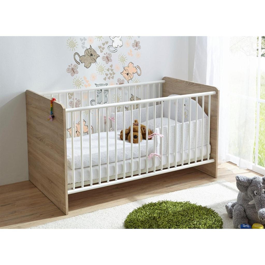 Ticaa Babymöbel-Set »Nico«, (Set, 2 St.), Bett + Wickelkommode