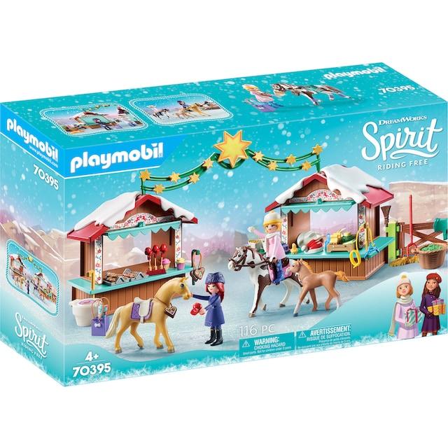 """Playmobil® Konstruktions-Spielset """"Weihnachten in Miradero (70395), Spirit Riding Free"""", Kunststoff"""