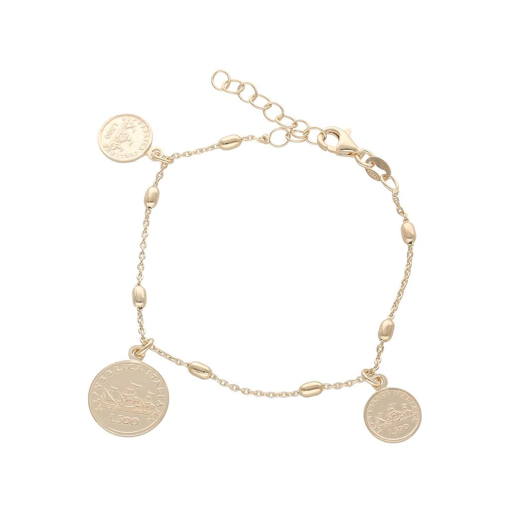 Firetti Armband »Münze Italien 500 Lire, glänzend, strukturiert und vergoldet«