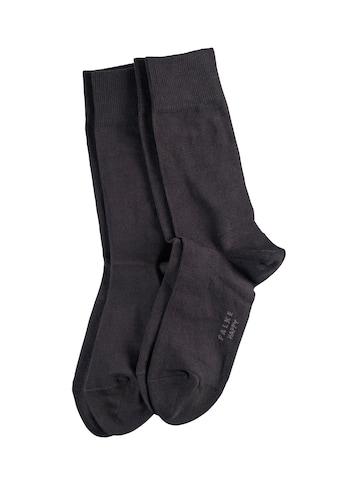 FALKE Socken »Happy 2-Pack«, (2 Paar), Baumwollstrumpf für jedes Outfit kaufen