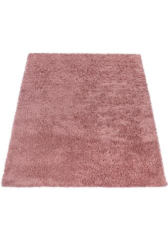 Paco Home Hochflor-Teppich »Twister 500«, rechteckig, 45 mm Höhe, Uni Hochflor Shaggy... kaufen
