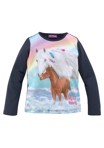 Miss Melody Langarmshirt »MISS MELODY«, mit großem Pferdemotiv kaufen