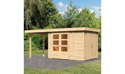KONIFERA Set: Gartenhaus »Ostsee 2«, BxT: 542x238 cm, mit Anbauschrank und Anbaudach kaufen