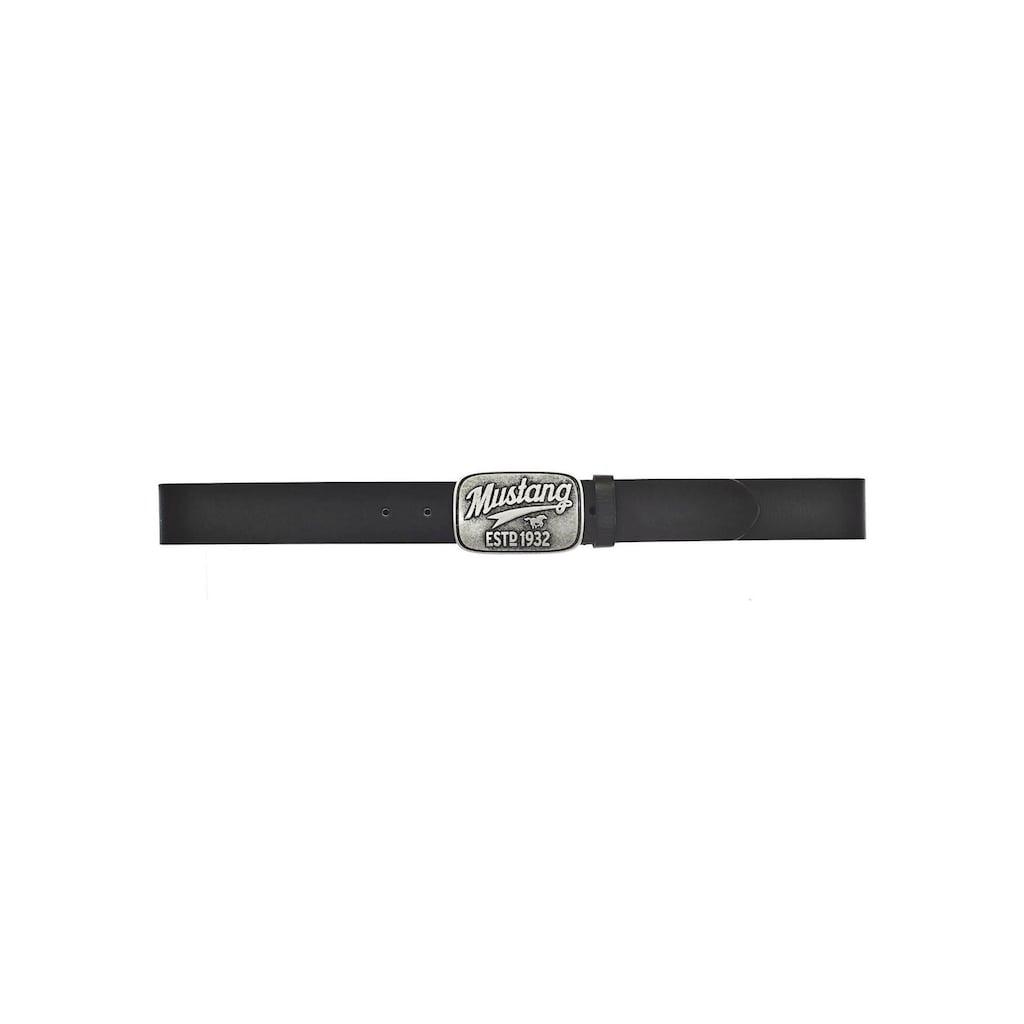 MUSTANG Koppelgürtel, mit Logoschnalle im Used-Look, Western Look