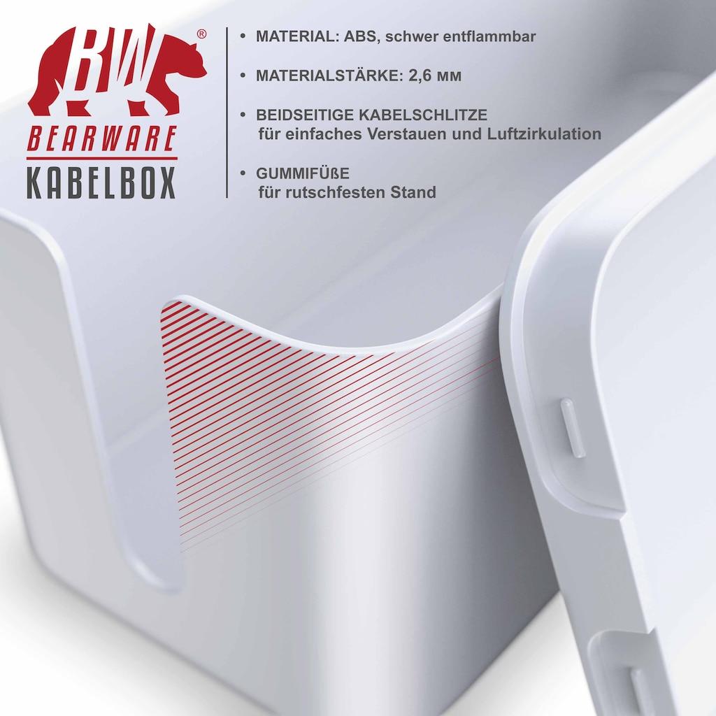 BEARWARE Kabelbox mit Gummifüßen
