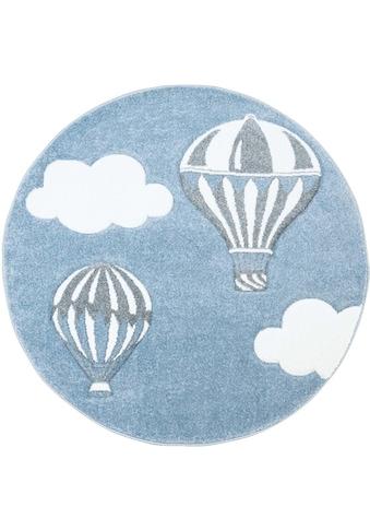 Carpet City Kinderteppich »Bueno Kids 1456«, rund, 13 mm Höhe, Heißluftballon,... kaufen