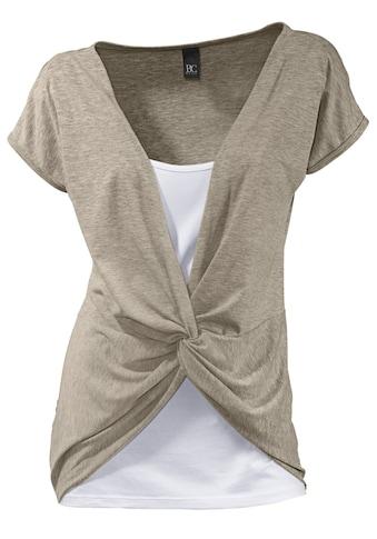 Shirt 2 in 1 mit Knotendetail kaufen