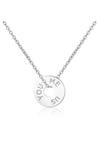 AILORIA Kette mit Anhänger »LOUNA Halskette mit runden Charm«, aus 925 Sterling Silver kaufen