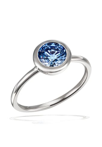 goldmaid Damenring Silber 925 mit blauem Zirkonia kaufen