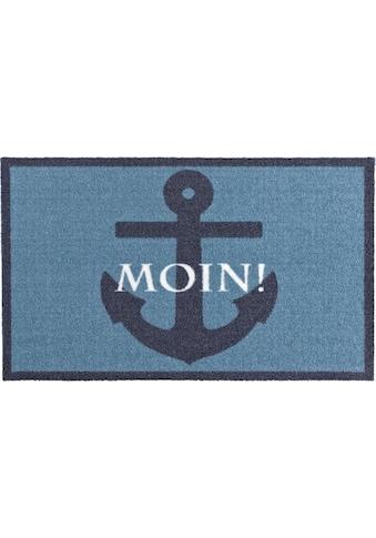 Zala Living Fußmatte »Moin«, rechteckig, 7 mm Höhe, Schmutzfangmatte, mit Spruch,... kaufen