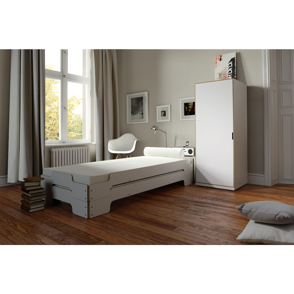 Müller SMALL LIVING Stapelbett »STAPELLIEGE Klassik (eine Liege)«, Gestellhöhe: 23,5 cm, ausgezeichnet mit dem German Design Award - 2019