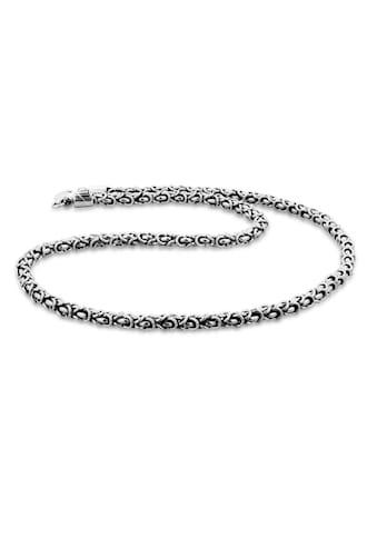 Kuzzoi Silberkette »Herrenschmuck Gliederkette Oxidiert 925 Silber« kaufen