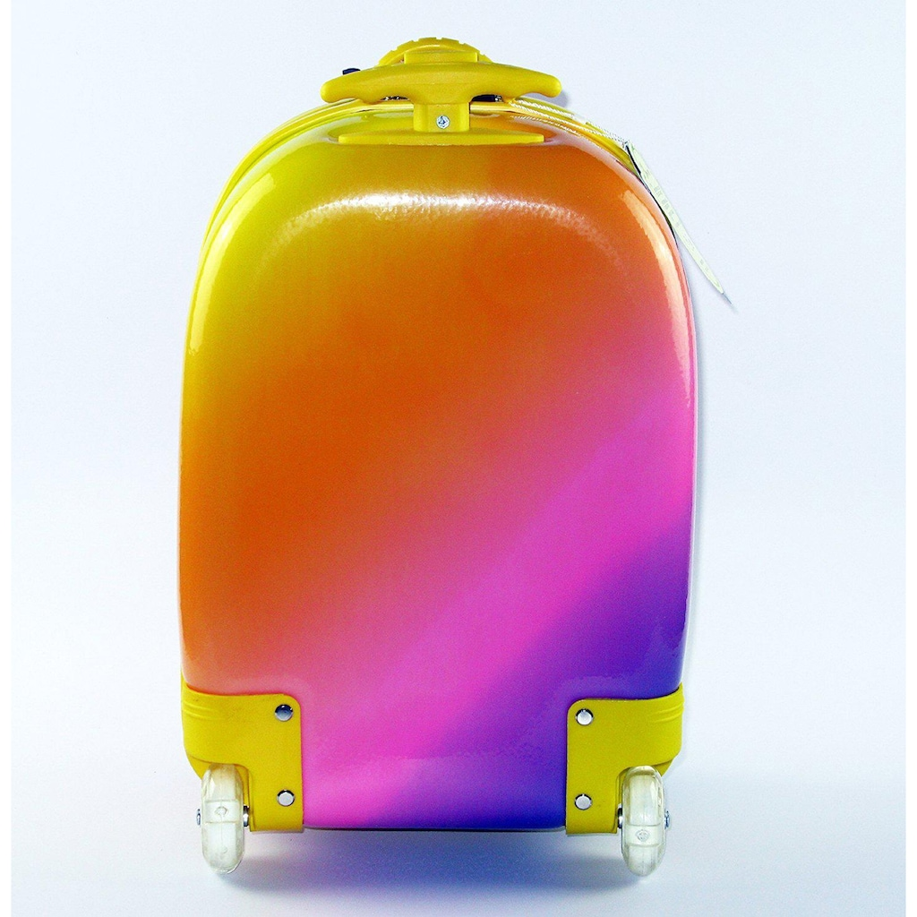 CHIC2000 Kinderkoffer »Bouncie, Rainbow«, 2 Rollen, Hartschalen-Trolley
