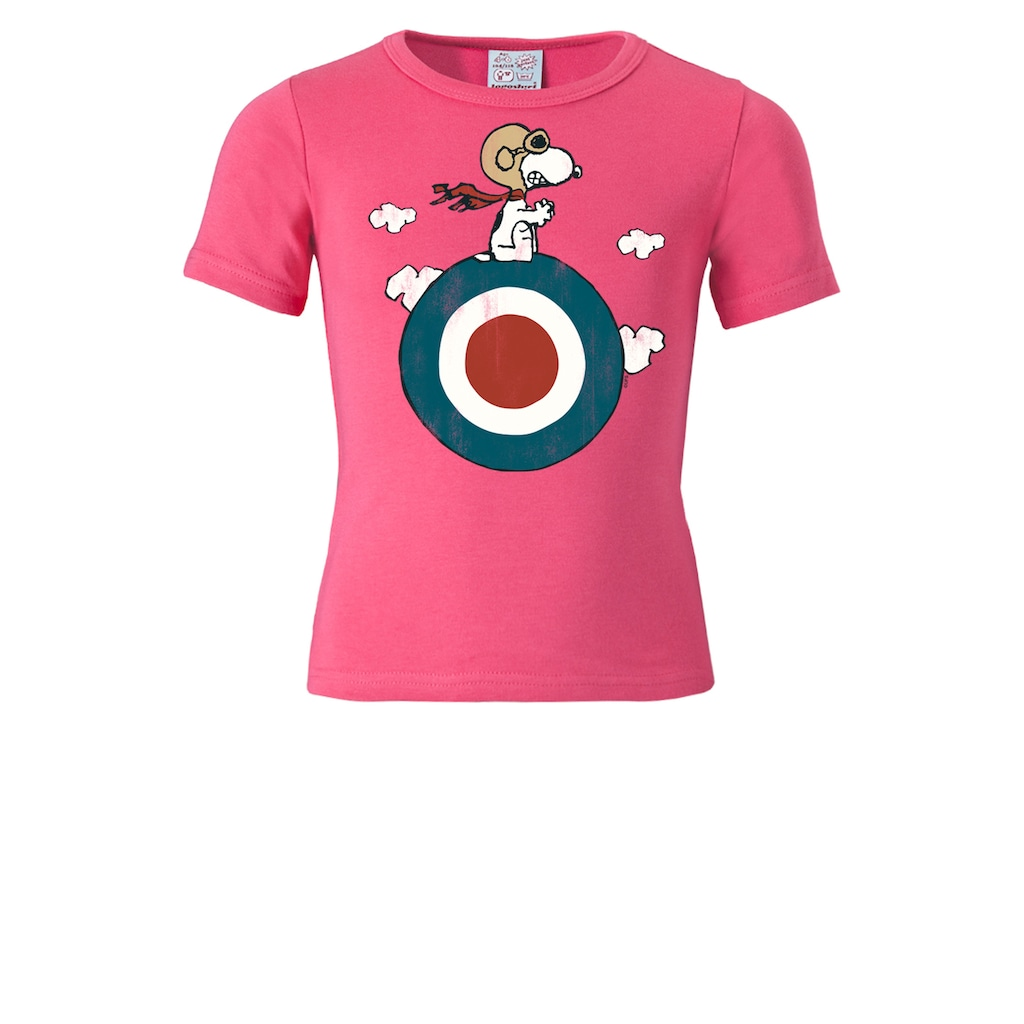 LOGOSHIRT T-Shirt »Snoopy - Target«, mit lizenziertem Originaldesign