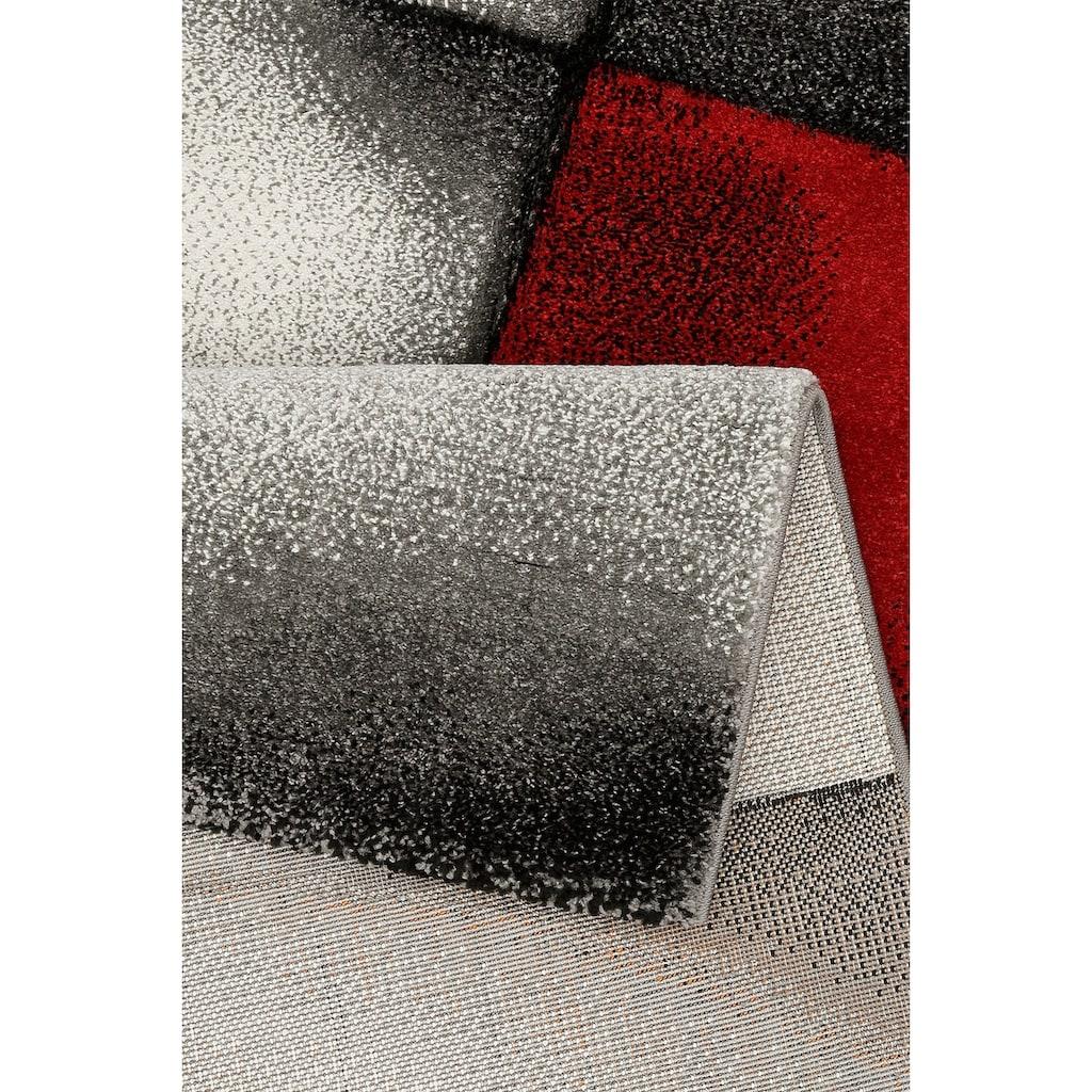 merinos Teppich »BRILLIANCE«, rund, 13 mm Höhe, Handgearbeiteter Konturenschnitt, Wohnzimmer