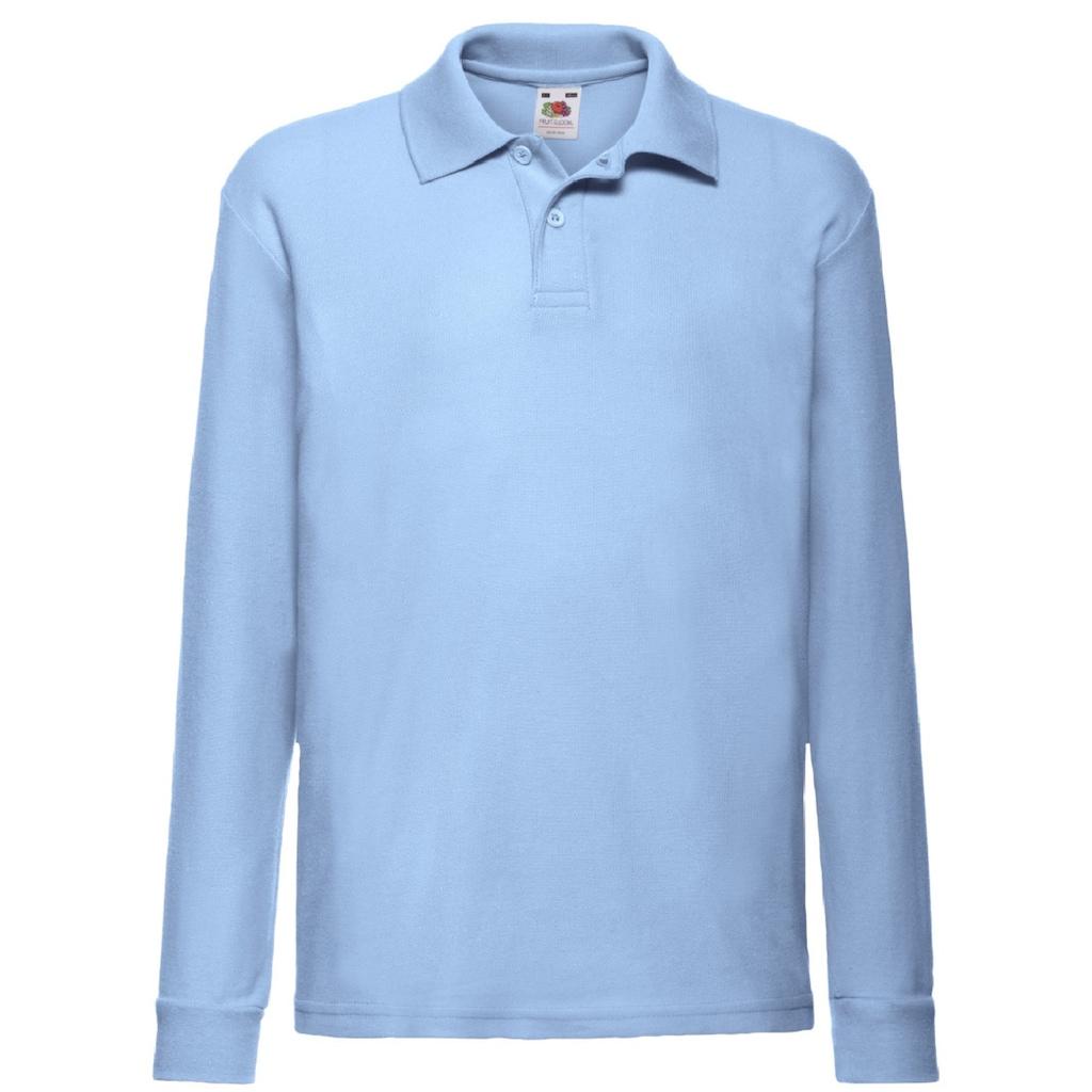 Fruit of the Loom Poloshirt »Kinder Polo Shirt, Langarm«