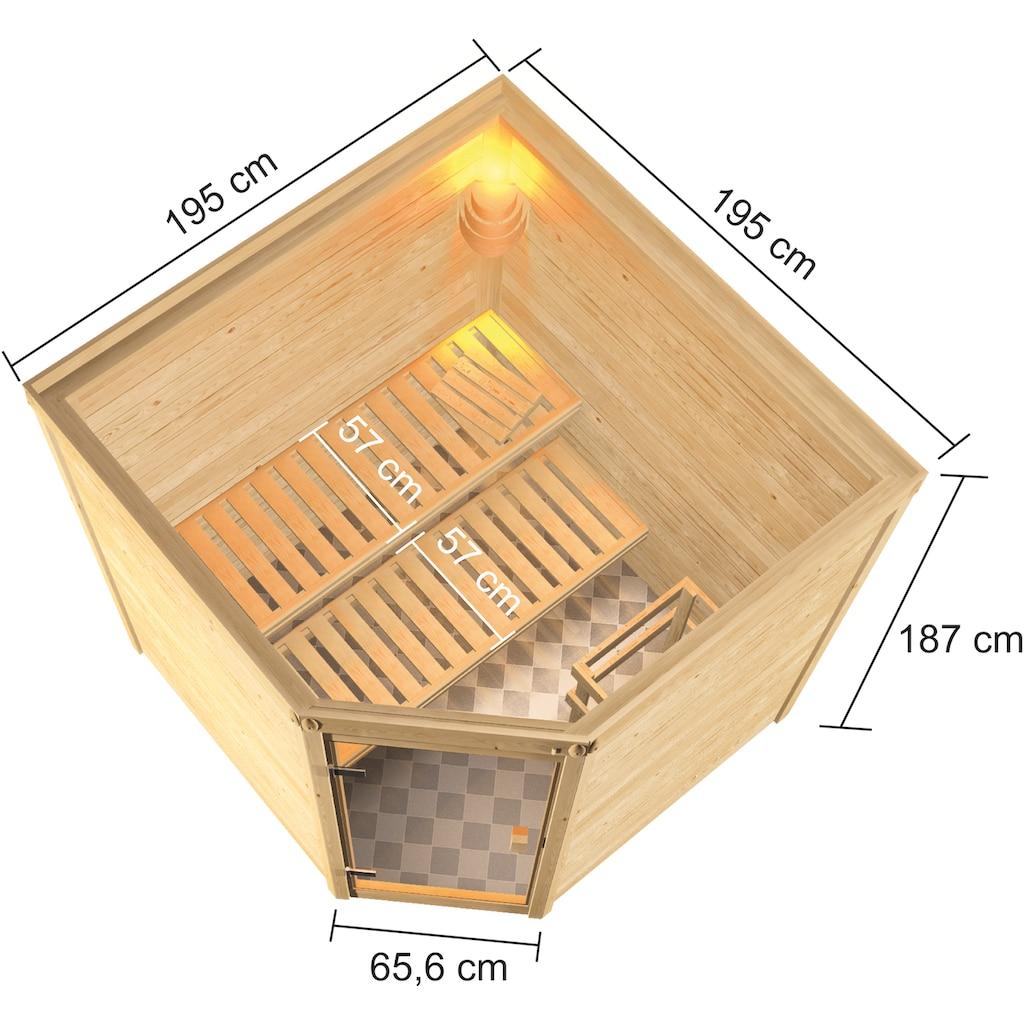Karibu Sauna »Tami«, 4,5-kW-Ofen mit ext. Steuerung
