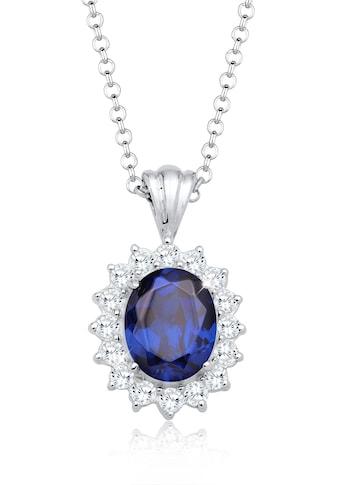 Elli Collierkettchen »Royal Saphirblau Zirkonia 925 Sterling Silber« kaufen