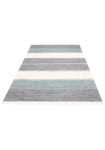 Lüttenhütt Teppich »Paula«, rechteckig, 5 mm Höhe, handgewebt, beidseitig verwendbar, Wohnzimmer kaufen