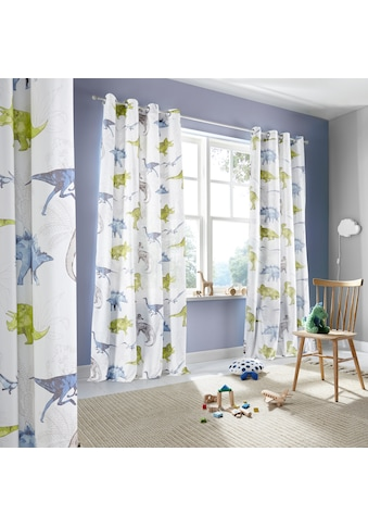 Lüttenhütt Gardine »Dino«, Nachhaltige Kindergardine kaufen