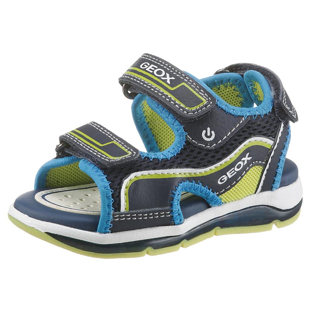 Geox Kids Sandale »Todo Boy Blinkschuh«, mit 3 Klettverschlüssen