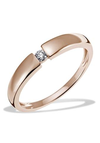 goldmaid Damenring Solitär 585/- Rotgold 1 Diamant 0,10 ct. SI/H kaufen
