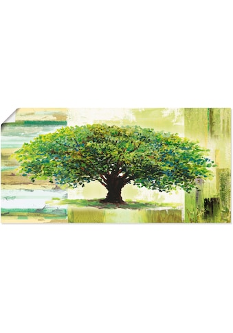 Artland Wandbild »Frühlingsbaum auf abstraktem Hintergrund«, Bäume, (1 St.), in vielen... kaufen