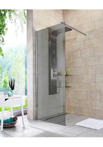 welltime Duschwand »Duschabtrennung«, Breite 80 cm, Grauglas kaufen