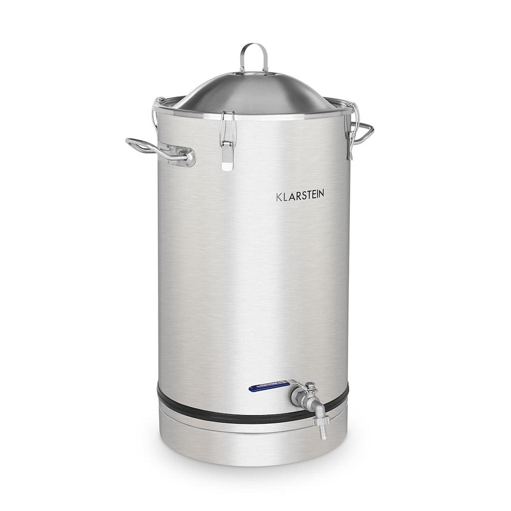 Klarstein Maischfest Fermentierkessel 30 Liter Gärröhrchen Edelstahl »Fermenter 30«