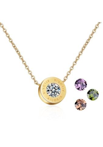 AILORIA Kette mit Anhänger »AGNÈS Halskette Gold«, Hochglanz-Finish kaufen
