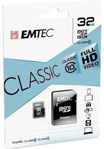 EMTEC »microSDClass10 Classic« Speicherkarte (30 MB/s Lesegeschwindigkeit maximal) kaufen