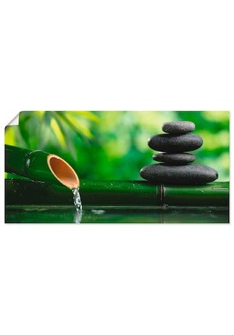 Artland Wandbild »Bambusbrunnen und Zen-Stein«, Zen, (1 St.), in vielen Größen &... kaufen