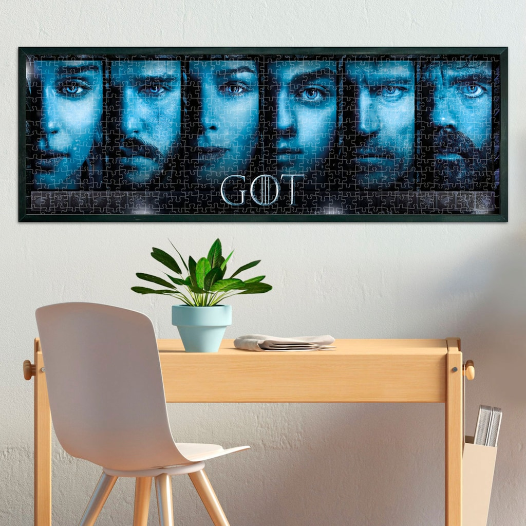 Clementoni® Puzzle »Panorama - Game of Thrones - The Iron Anniversary«, Made in Europe, FSC® - schützt Wald - weltweit