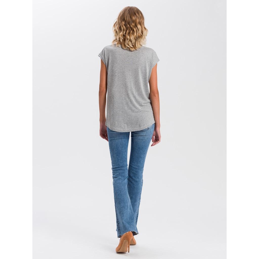 Cross Jeans® T-Shirt »55734«, Motto Frontprint