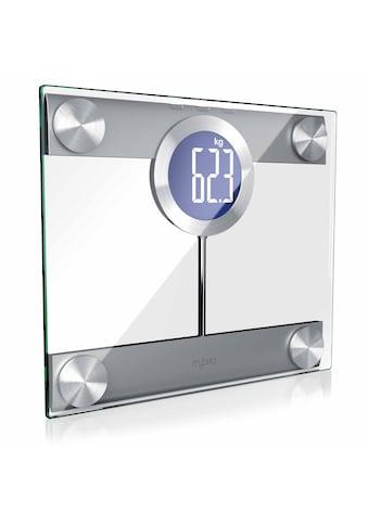 MyBeo Digitale Körperwaage im Glas Design »Display und Trittfläche extra groß / max. 200kg« kaufen
