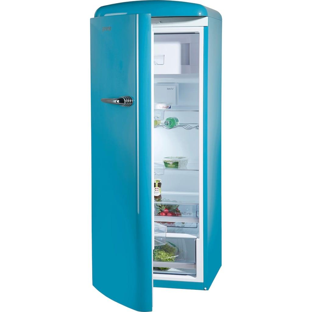 GORENJE Kühlschrank, ORB153BL-L, 154 cm hoch, 60 cm breit, 154 cm hoch, 60 cm breit