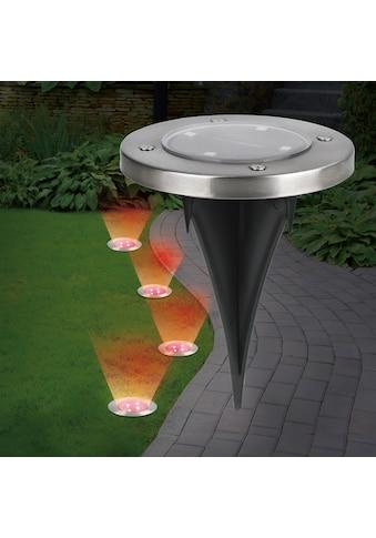 EASYmaxx LED Gartenleuchte »Solar-Bodenleuchte«, 4 St., Farbwechsler, Farbwechsel 4er-Set, EASYmaxx kaufen
