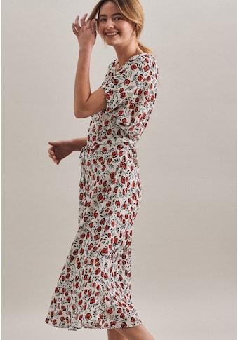 seidensticker Sommerkleid »Schwarze Rose«, Kurzarm Rundhals Floral kaufen