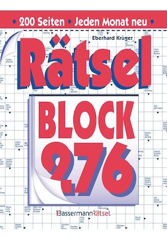 Buch »Rätselblock 276 (5 Exemplare à 2,99 EUR) / Eberhard Krüger« kaufen